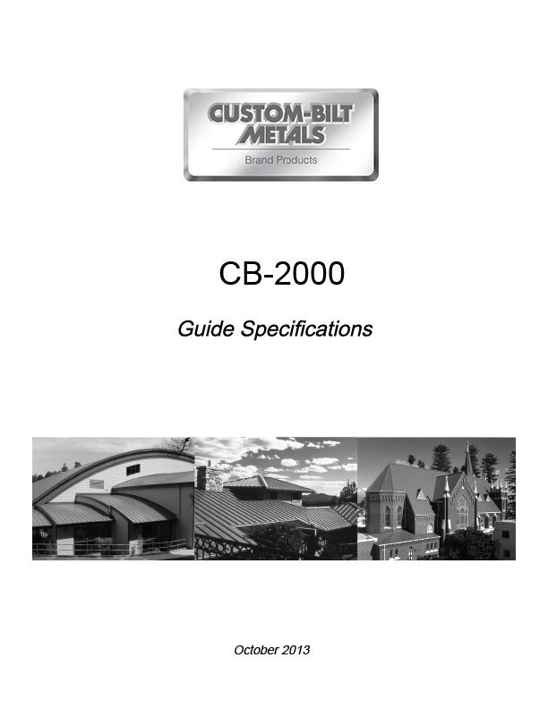 Guide Specs: CB-2000