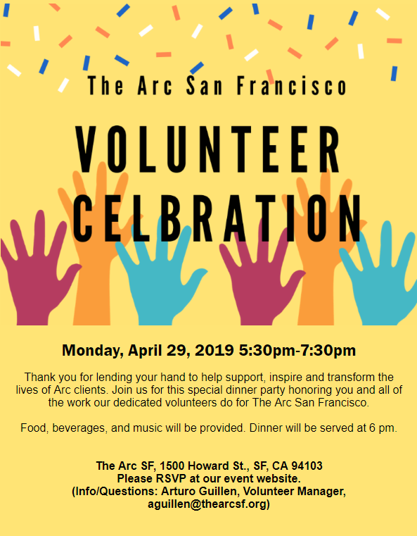 Volunteer Appreciation Celebration!