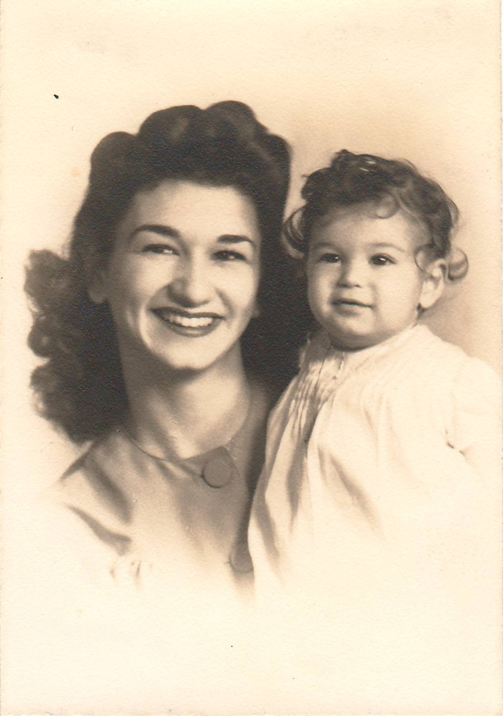 Becky and her daughter Donna, 1943.