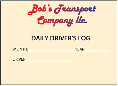 Driver's Daily Log With Gradient