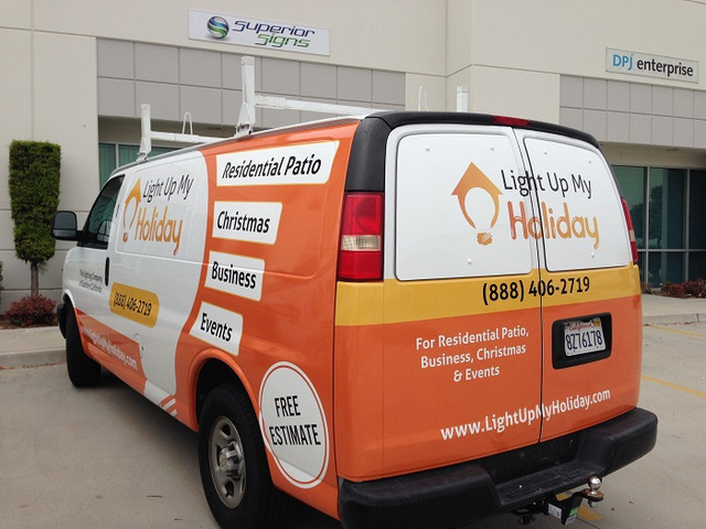 Vehicle graphics for lighting companies in Orange County