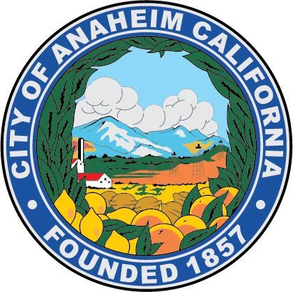 DP-1100 -  Plaque of the Seal of the City of Anaheim, California, Giclee