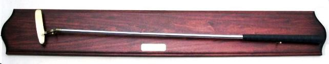 N23470 - Mahogany Plaque with Engraved Brass Plate and Golf Club