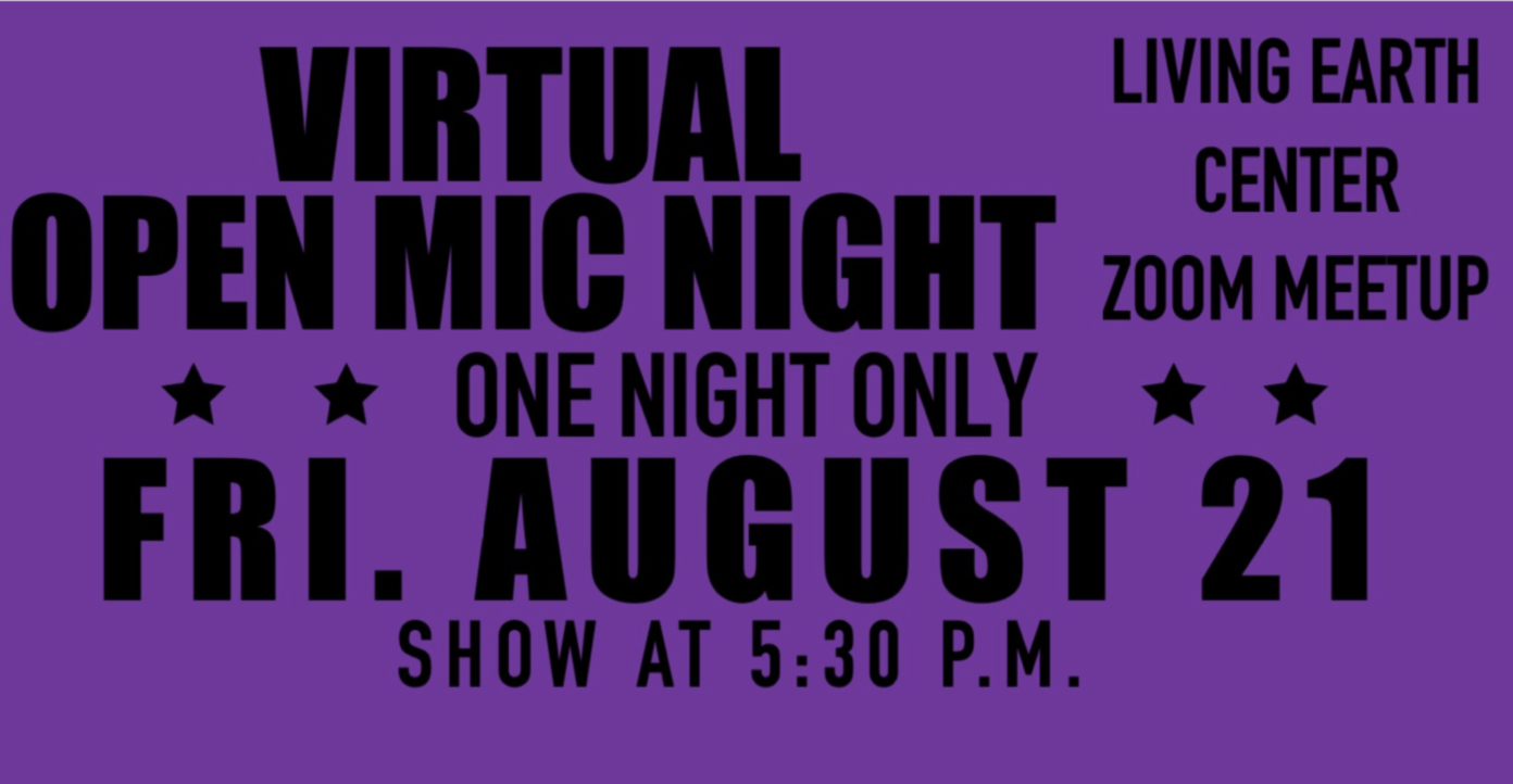 August Virtual Open Mic Night