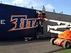 CSUF Vinyl Wall Wrap in Soccer Stadium