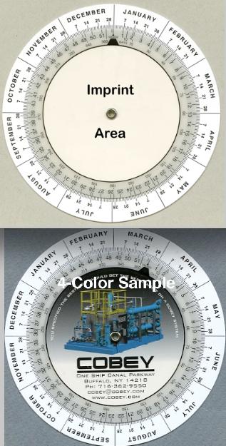 "4"" Date Calculator Wheel - Plastic"