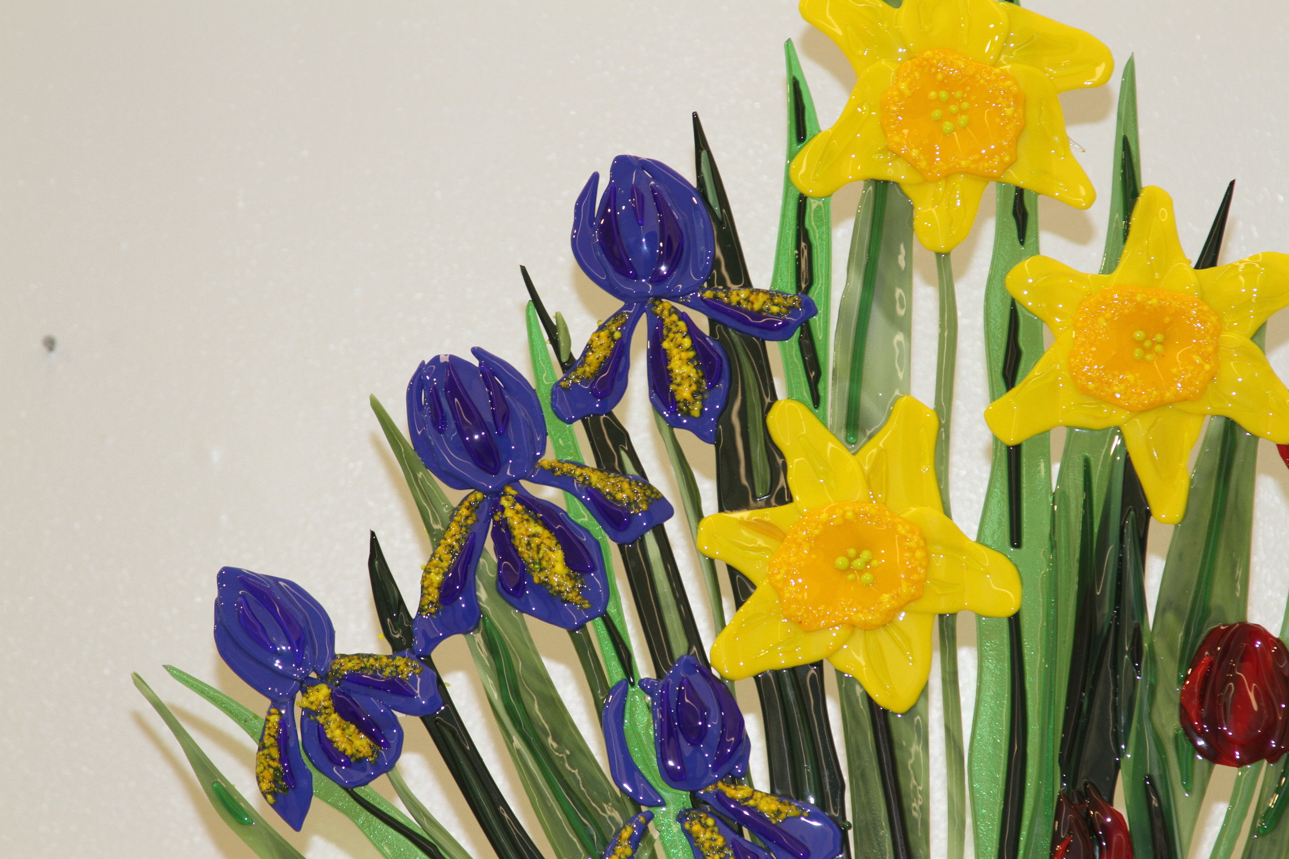Primary Colored Daffodils, Tulips & Iris