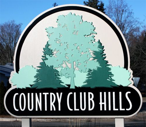 CNC CARVED SIGN, COUNTRY CLUB HILLS