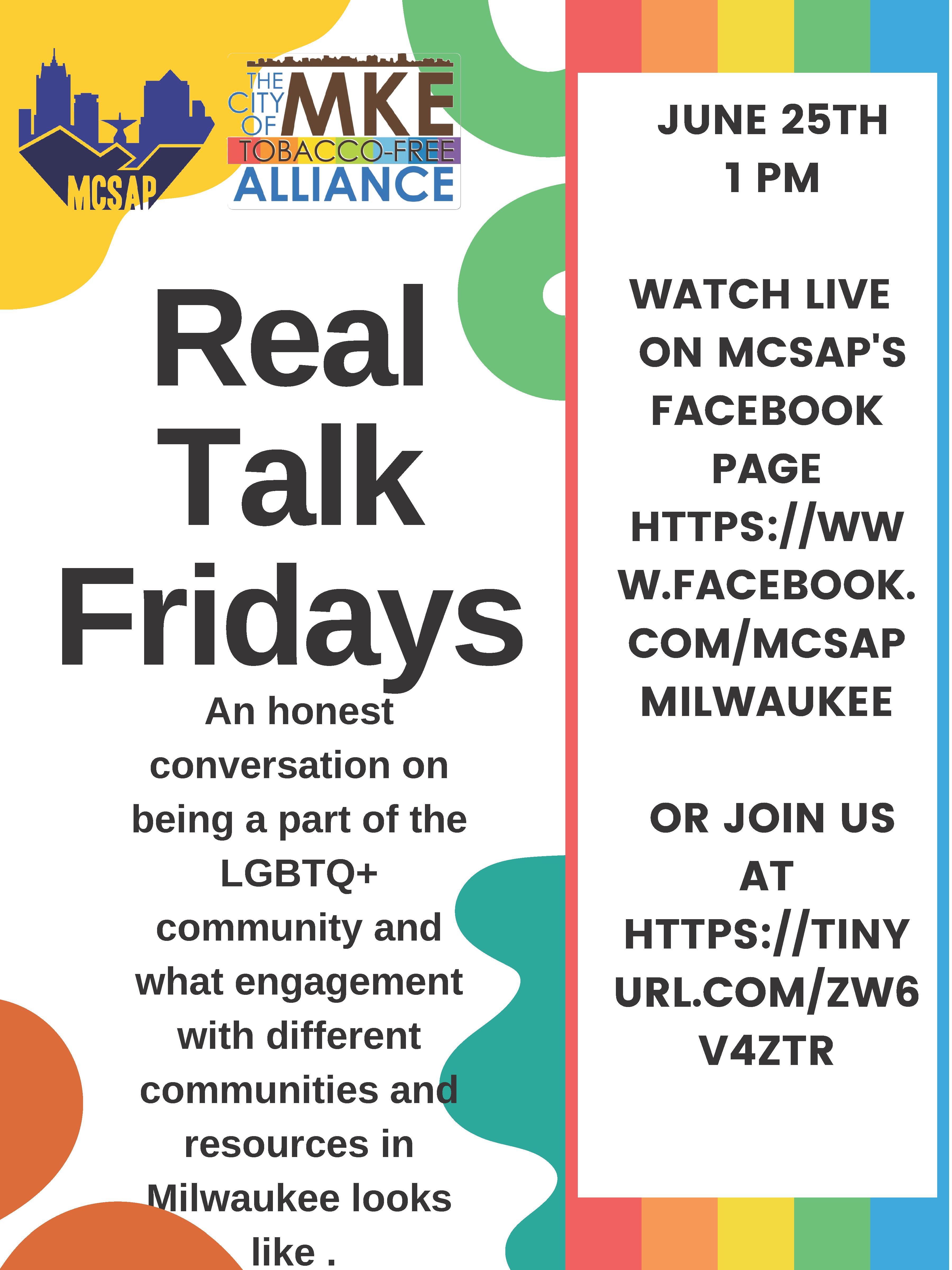 real talk fridays LGBTQ+
