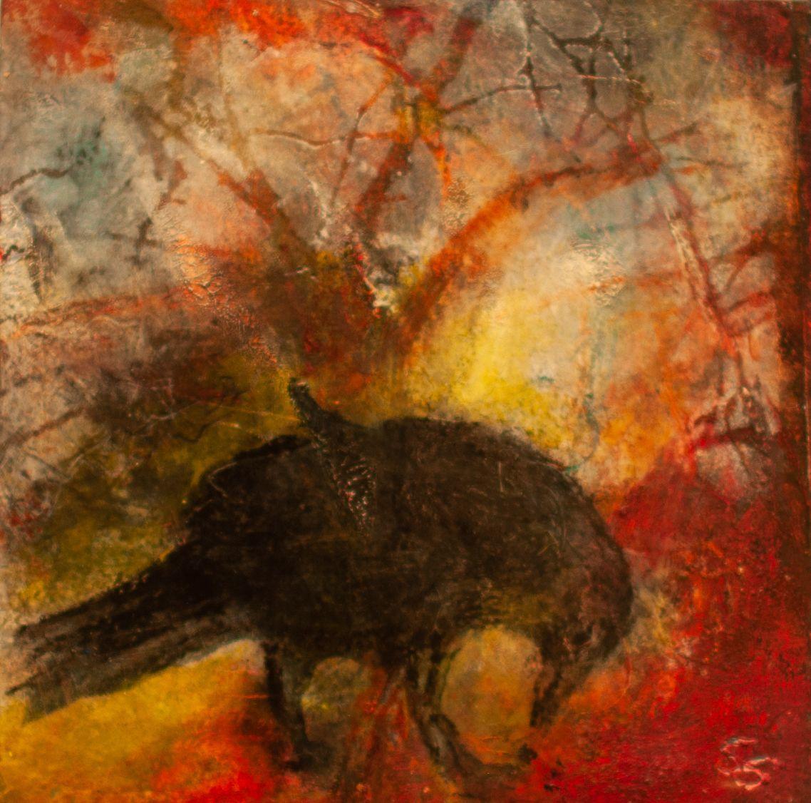 "Sandy Shepard - ""Raven Eating"""