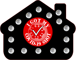 BLACK AND RED HOUSE BLING PIN CLEAR RHINESTONES