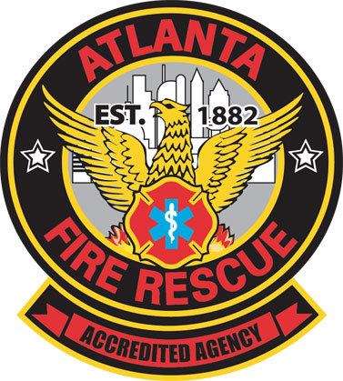 QP-3068 - Carved Wall Plaque of  the Seal  of the City of Atlanta  Fire & Rescue  Department, Georgia,  Artist Painted