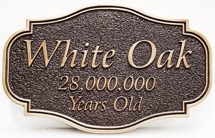 "I18181 - Carved 2.5-D Sign for the  ""White Oak"" Residence"
