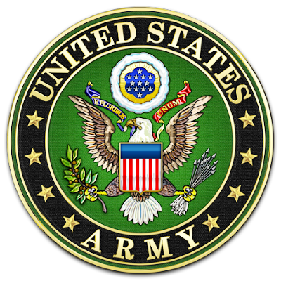 MP-1010 - Carved Plaque of the Great Seal of the United States with US Army Text,  Artist Painted with Gold Leaf Gilded