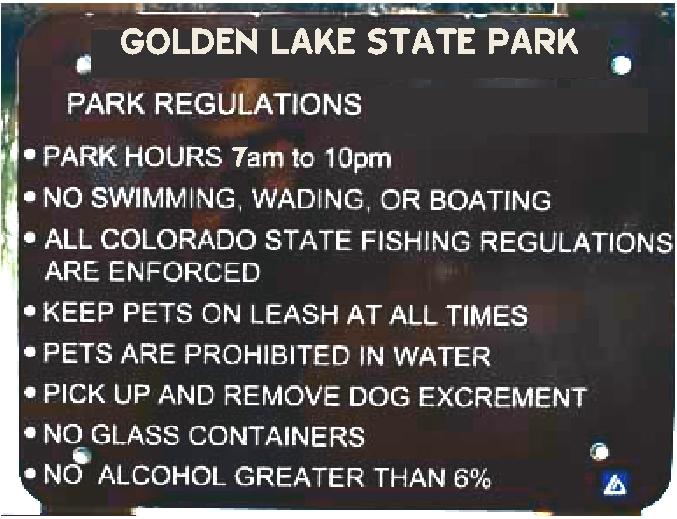 G16220 - Carved  Douglas Fir Engraved Sign with State Park  Regulations