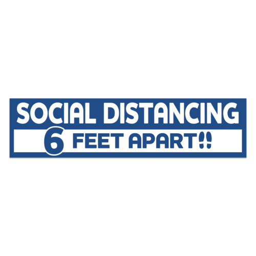 COVID-19 Social Distancing Signs & Stickers