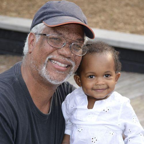 Grandpa and small child