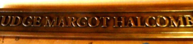 A10886 - Bronze-coated Name Plaque for a Judge