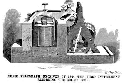 1844: First telegraph message was sent.