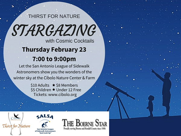 CNC: a Thirst for Nature event: Stargazing with Cosmic Cocktails