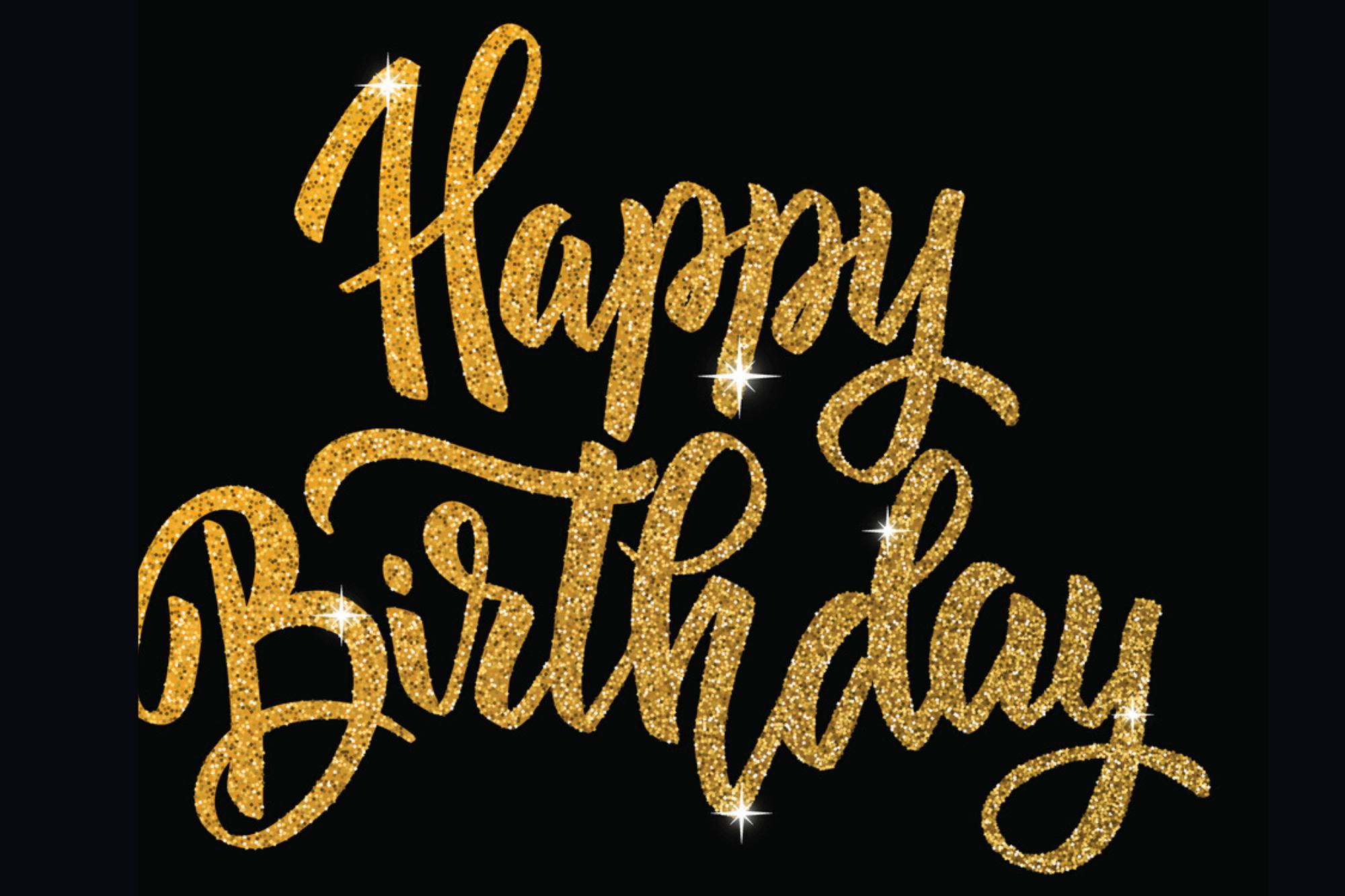 Happy Birthday Gold-Black