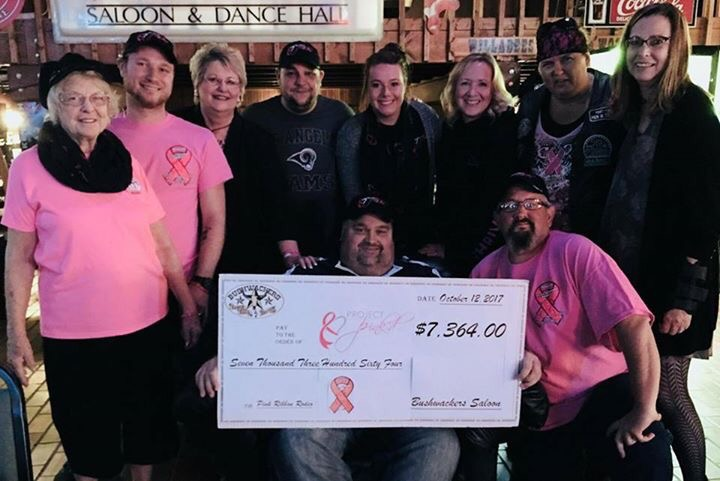 Bushwacker's Presents Project Pink'd With $7364 Donation
