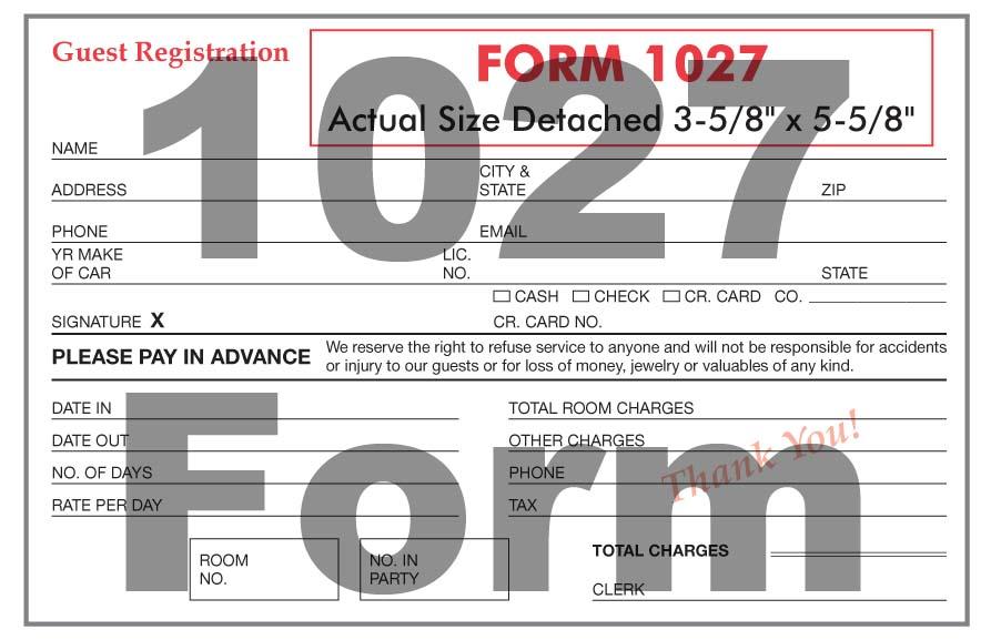 1027 Form