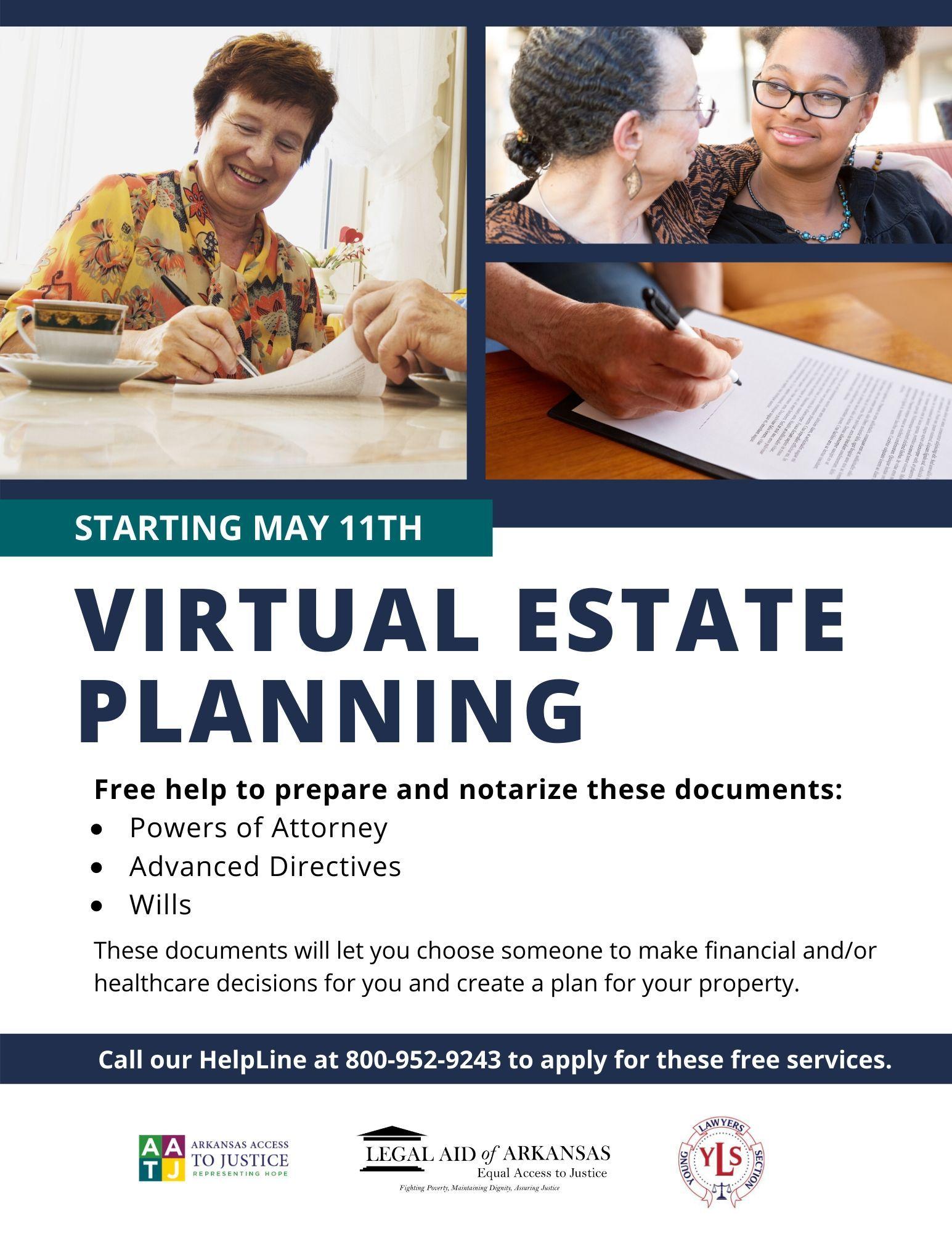 Virtual Estate Planning Starting May 11th