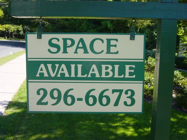 "Real Estate ""Space Available"" Hanging Sign on Yard Arm Post,  2 ft  x 3 ft"