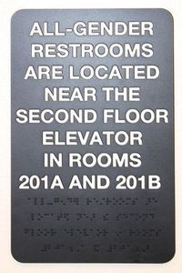 Braille Bathroom Sign