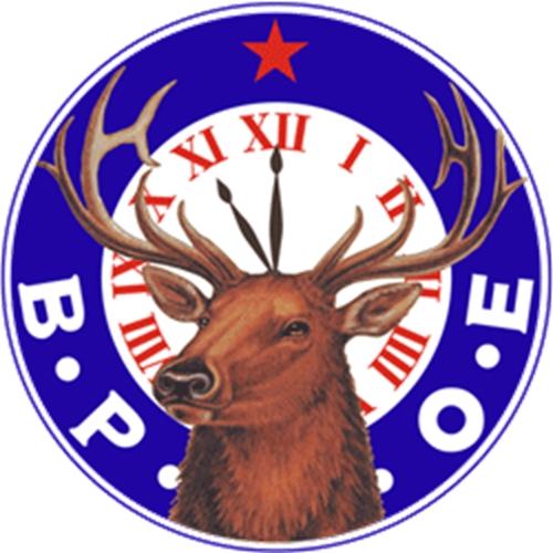 EG503 - Carved 2.5-D  Wall Plaque of the Logo/emblem  of the Benevolent & Protective Order of the Elks (B.P.O.E.)