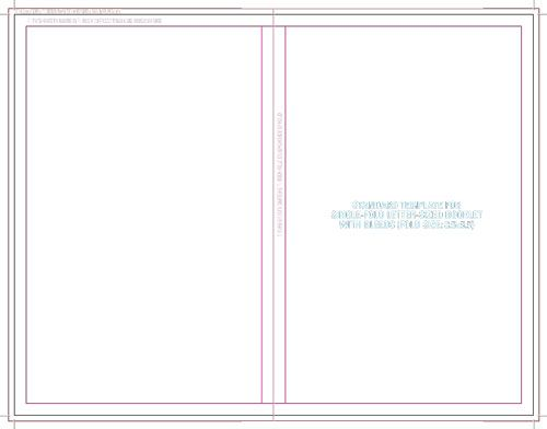Booklet with Bleeds - Fold Size 8.5x5.5