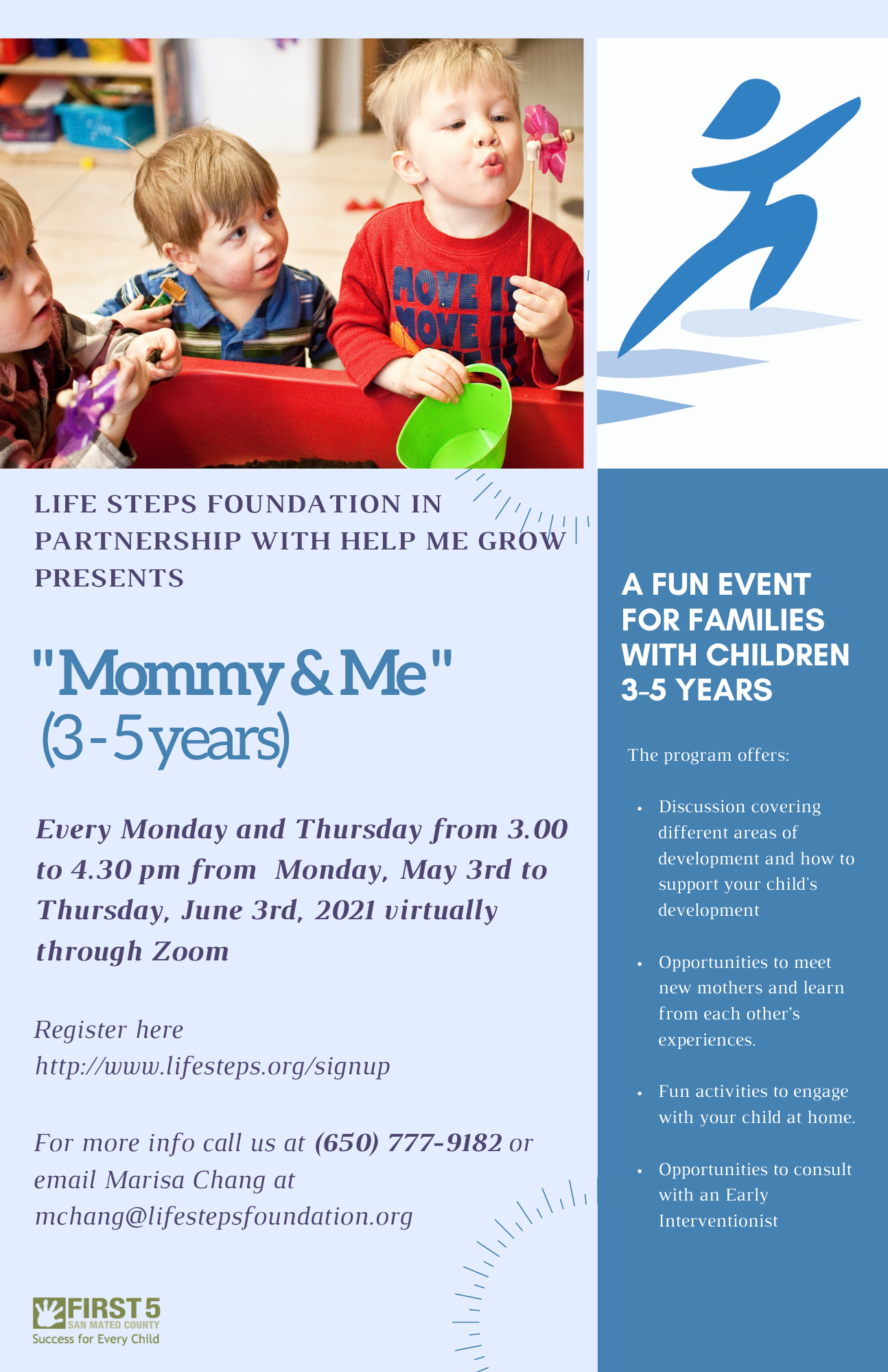 Mommy and Me Toddler Session - Runs from May 3 to June 3, 2021