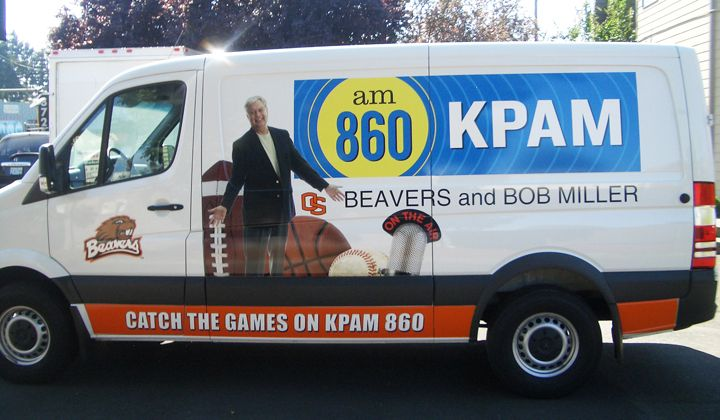 KPAM Sprinter Van full color digital Print vehicle graphics