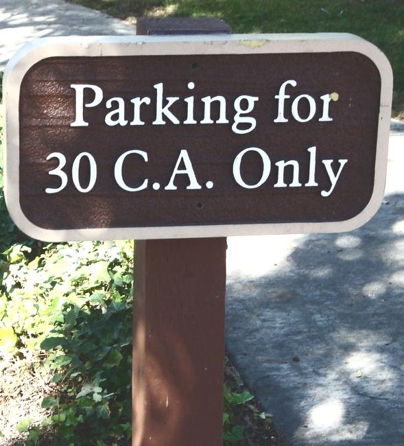 H17322 - Custom Wood Reserved Parking Sign