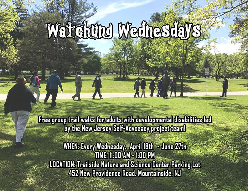 Watchung Wednesdays Trail Walk Flyer
