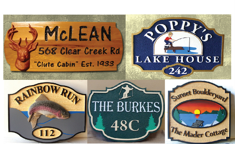 Cabin and Cottage Wood Signs