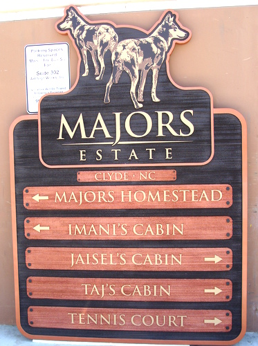 M22930 - Carved Wooden Directory Sign for Country Estate and Cabins