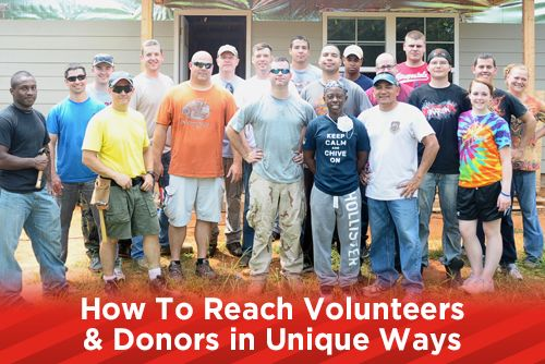 How To Reach Volunteers & Donors in Unique Ways
