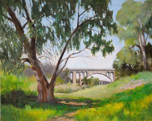 "Arroyo Springtime, oil, 16"" x 20"