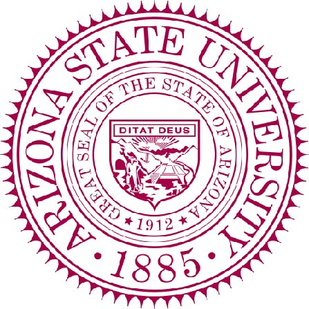 Y34328 -  Carved Raised Outline Wall Plaque of  Arizona State University