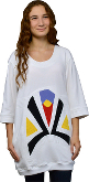 Dress T-Shirt 3/4 Sleeve White