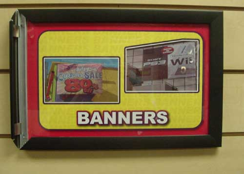 Mall Signage - ALUMINUM FLIP-UP FRAME