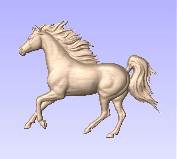 M3978- Carved Maple Arabian Horse