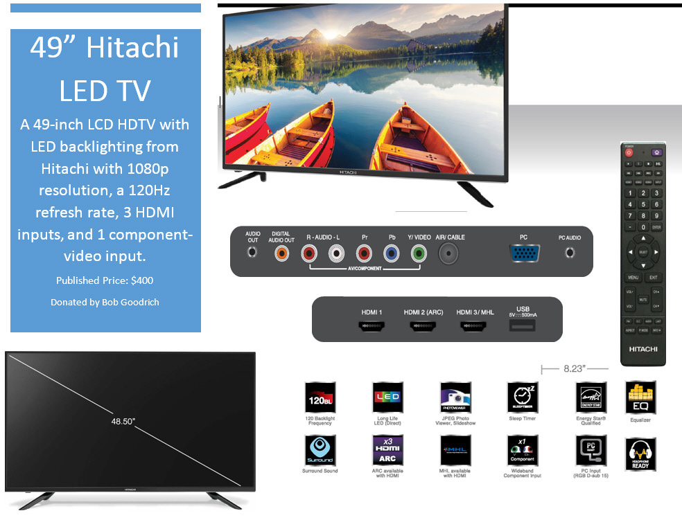 "49"" Hitachi LED TV"