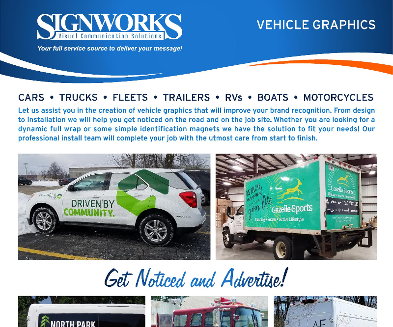 Vehicle Graphics Flyer