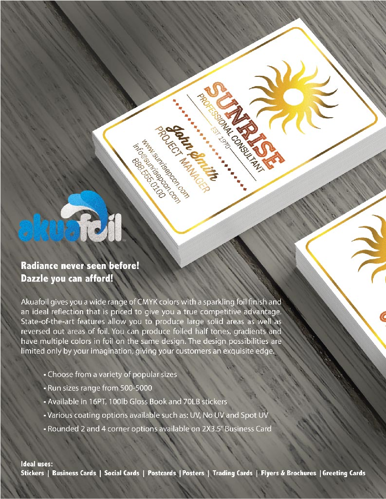 Akuafoil Business Cards