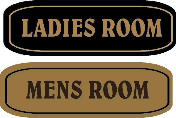 GA16615 - Design of HDU or Wood Signs for Ladies Room and Mens Room