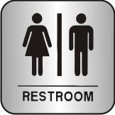 Contemporary Restroom Sign