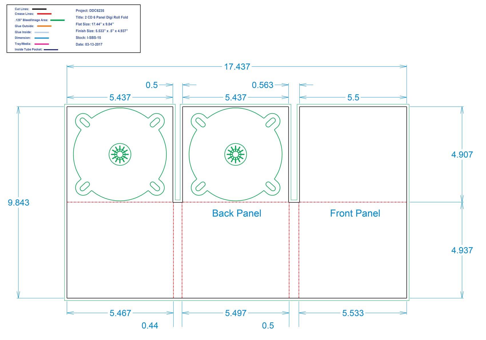 DDC6235 - 6 Panel Digi Two Trays Roll Fold